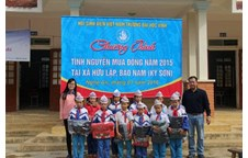 Charity activities in border areas of Nghe An Province