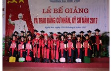 Commencement ceremony at Vinh University in 2017