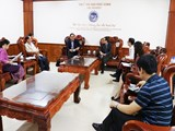 A delegation from Lao Ministry of Education and Sports visited and worked with Vinh University