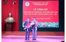 Dr. Nguyen Ngoc Hien was nominated as a Vice President of Vinh University